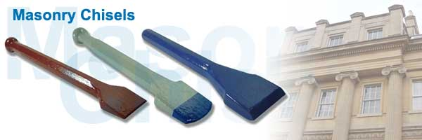 Masonry Chisels for all Types of Stone - Sandstone, Marble, Granite..